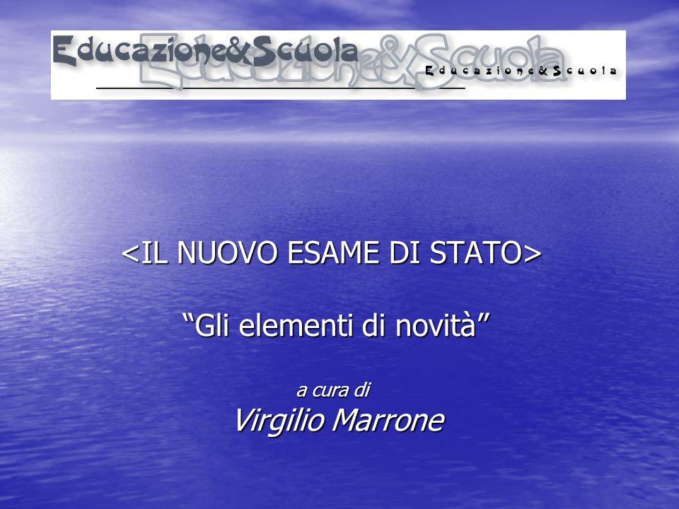 Gli elementi di novità Gli elementi di novità a cura di Virgilio Marrone Virgilio Marrone