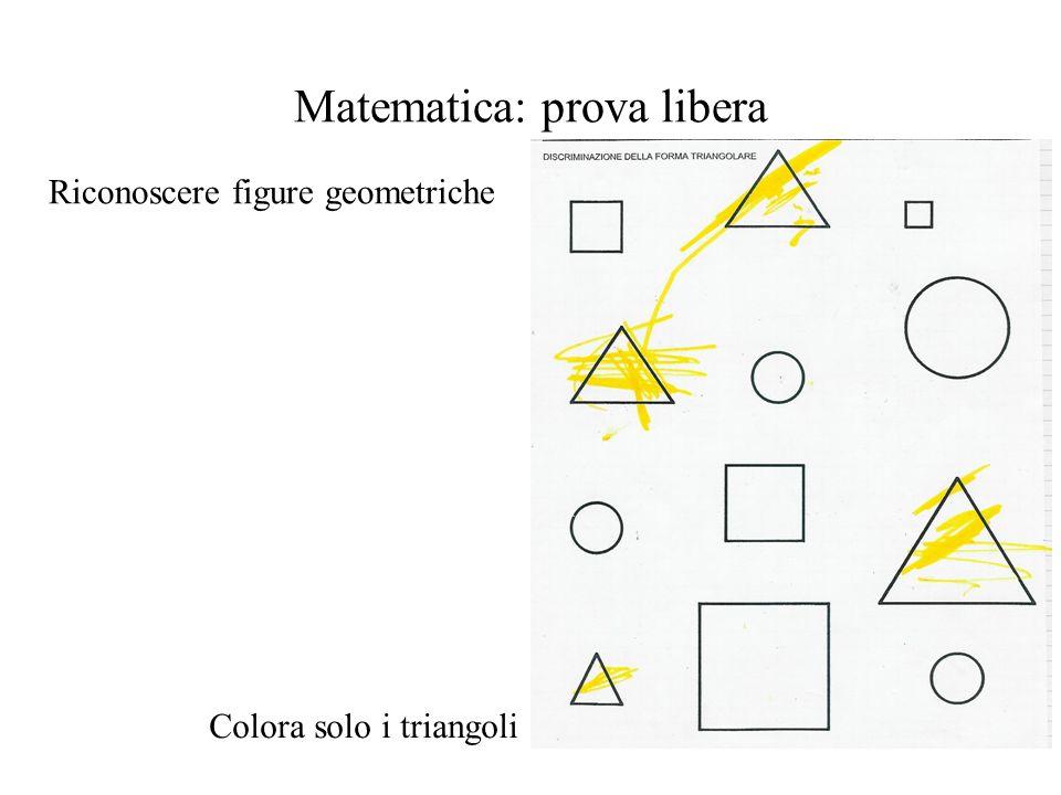 Matematica: prova libera Riconoscere figure geometriche Colora solo i triangoli