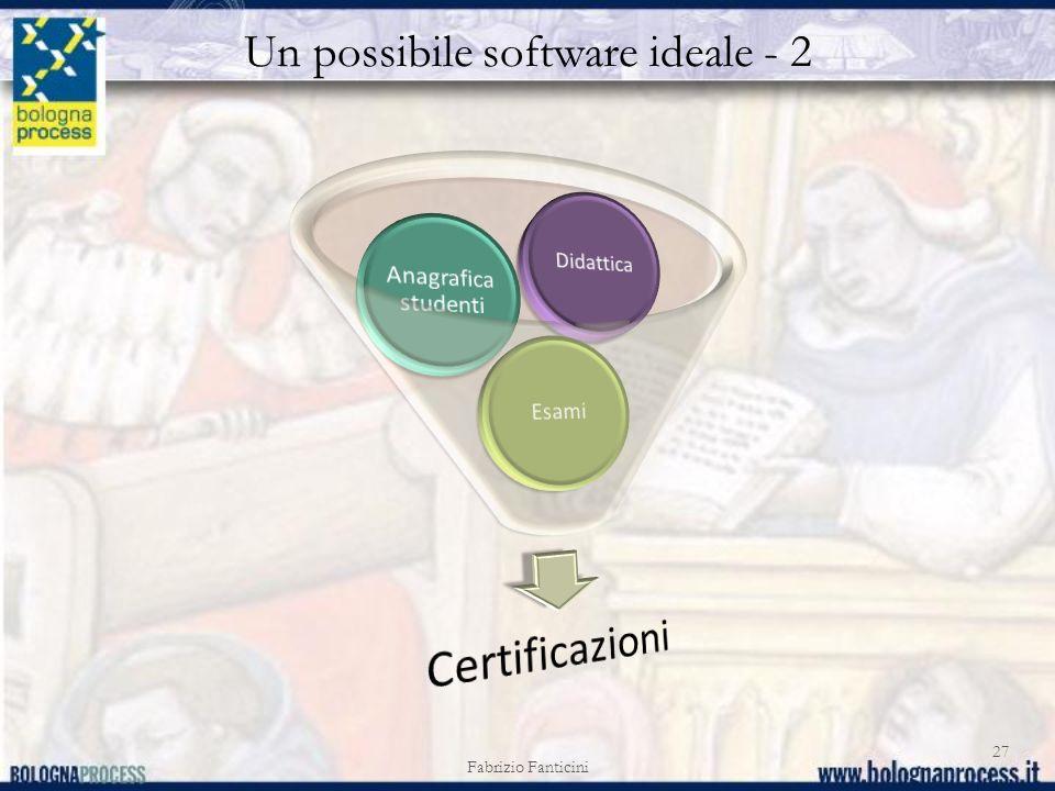 Un possibile software ideale - 2 Fabrizio Fanticini 27