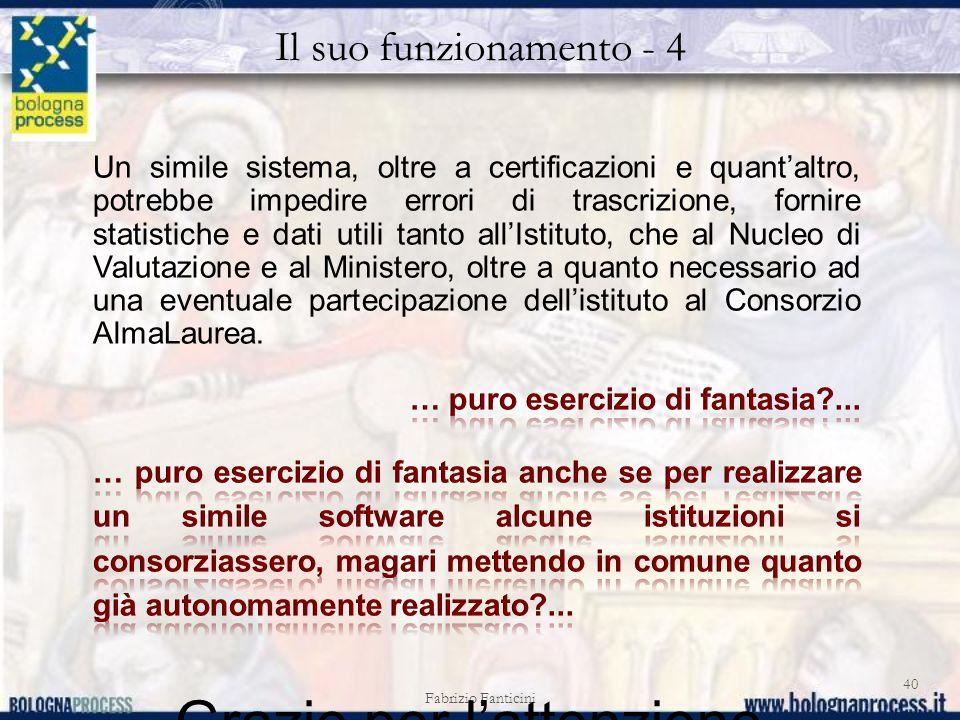 Il suo funzionamento - 4 Fabrizio Fanticini 40