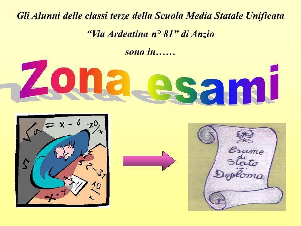 Gli Alunni delle classi terze della Scuola Media Statale Unificata Via Ardeatina n° 81 di Anzio sono in……