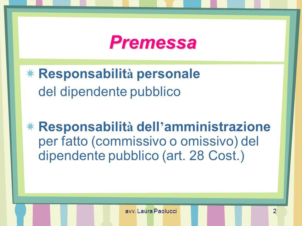 avv. Laura Paolucci13 La responsabilit à civile ContrattualeExtracontrattualePrecontrattuale