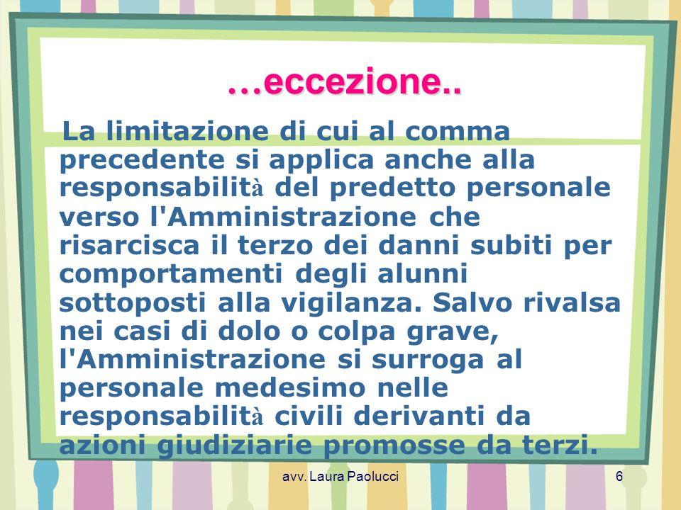 avv.Laura Paolucci7 Cos è la responsabilit à .