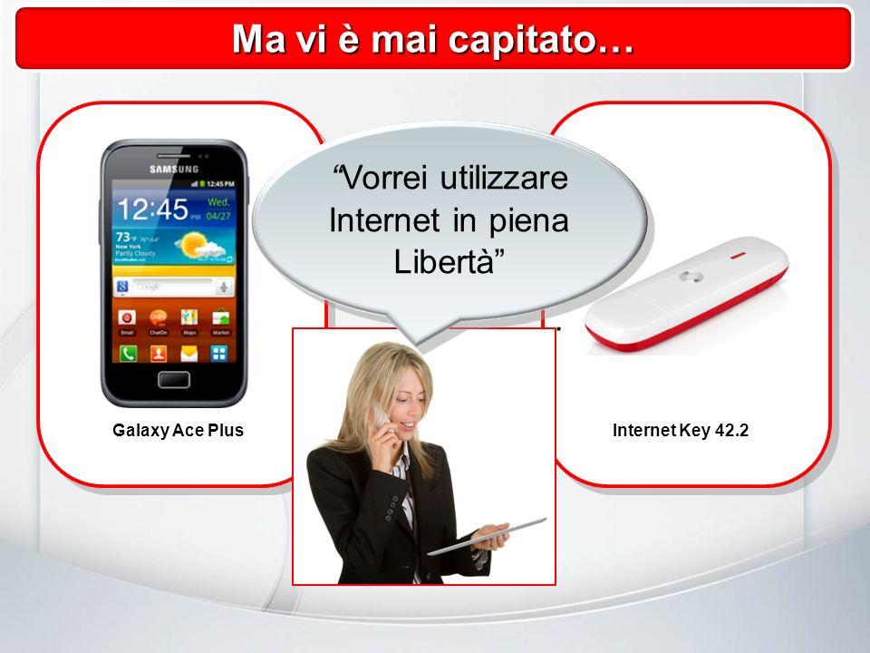 Galaxy Ace PlusInternet Key 42.2 Ma vi è mai capitato… Vorrei utilizzare Internet in piena Libertà