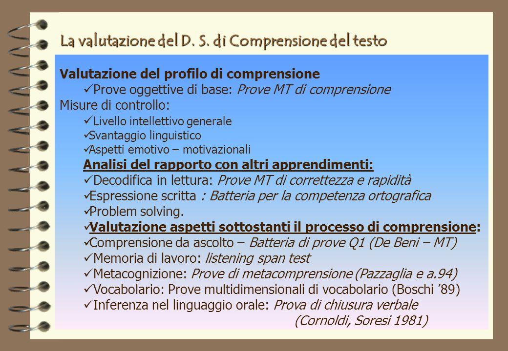 La valutazione del D.S.