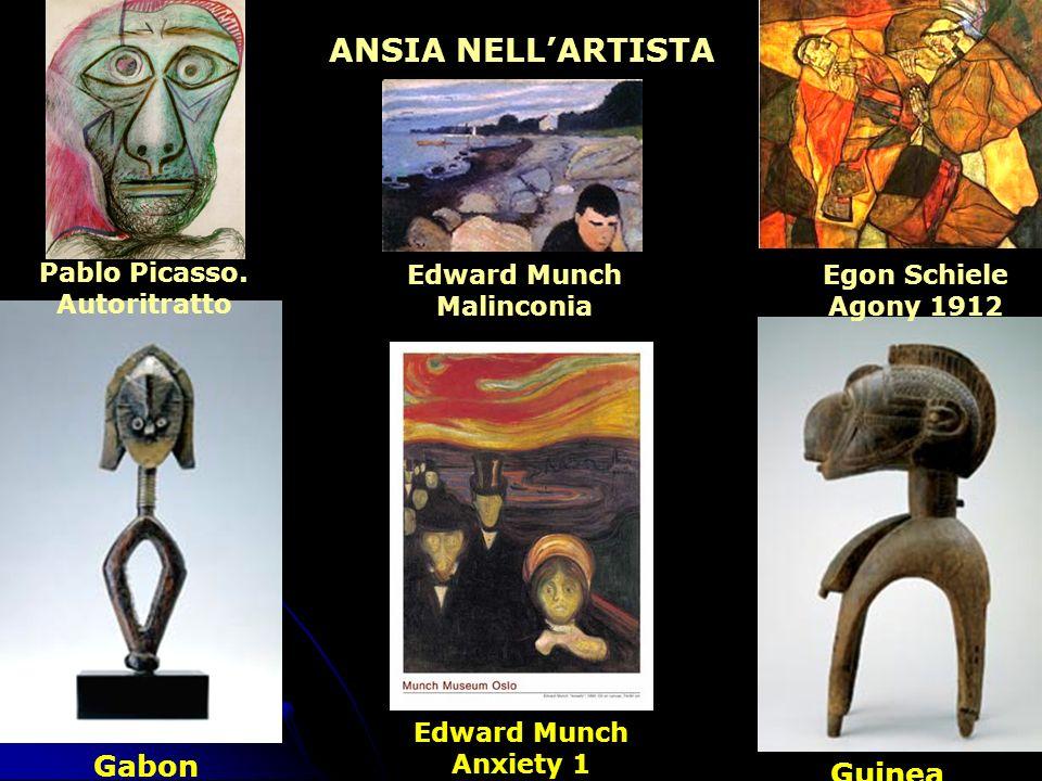 Gabon Guinea Edward Munch Anxiety 1 ANSIA NELLARTISTA Egon Schiele Agony 1912 Edward Munch Malinconia Pablo Picasso. Autoritratto