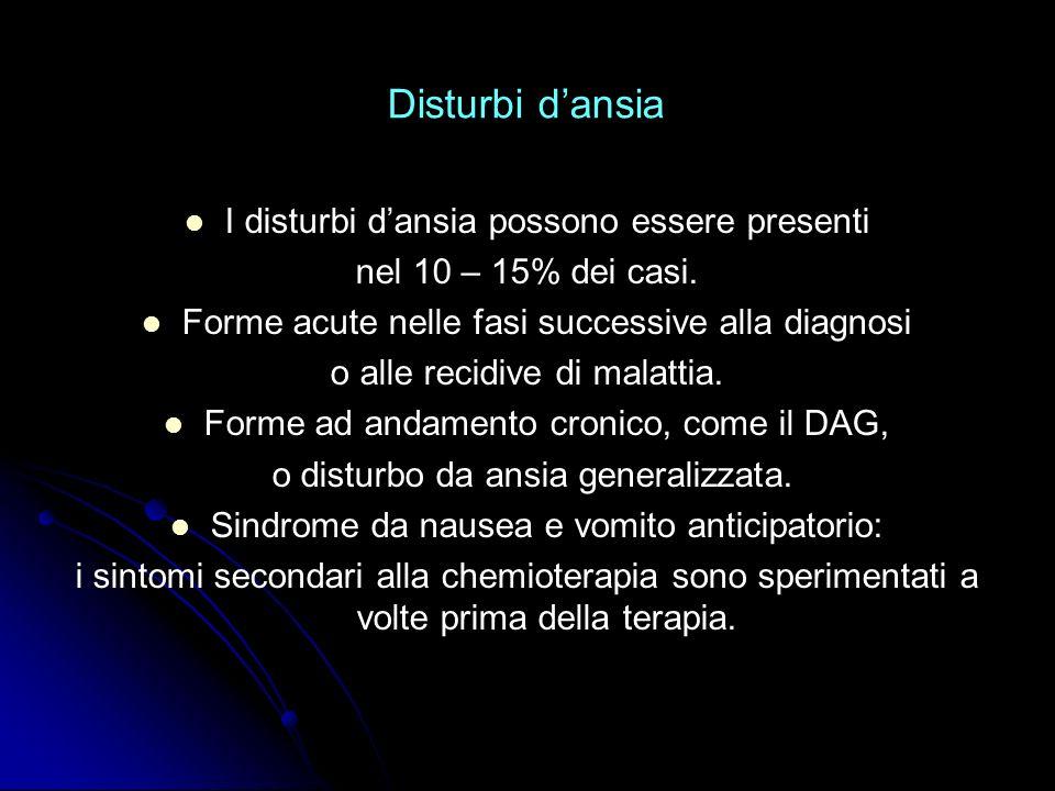 Sintomi psicologici dellansia Apprensività (es.