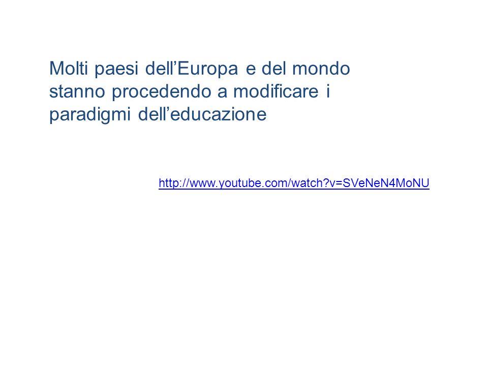 http://www.youtube.com/watch?v=SVeNeN4MoNU Molti paesi dellEuropa e del mondo stanno procedendo a modificare i paradigmi delleducazione