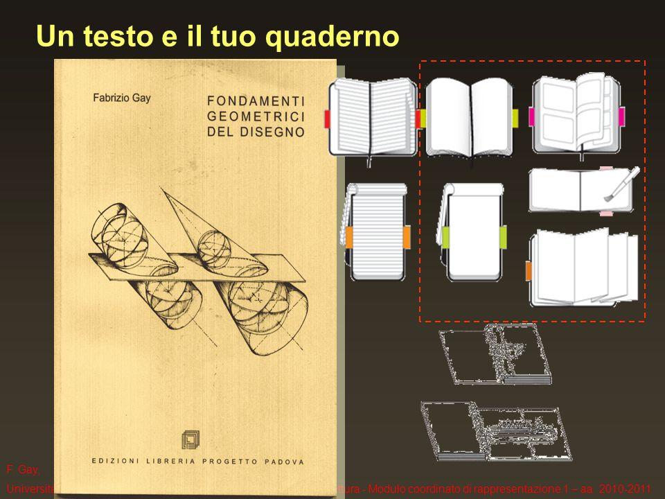 F. Gay, Università IUAV di Venezia, Corso di Laurea in Scienze dellArchitettura - Modulo coordinato di rappresentazione 1 – aa. 2010-2011 Un testo e i