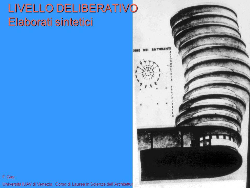 F. Gay, Università IUAV di Venezia, Corso di Laurea in Scienze dellArchitettura - Modulo coordinato di rappresentazione 1 – aa. 2010-2011 LIVELLO DELI