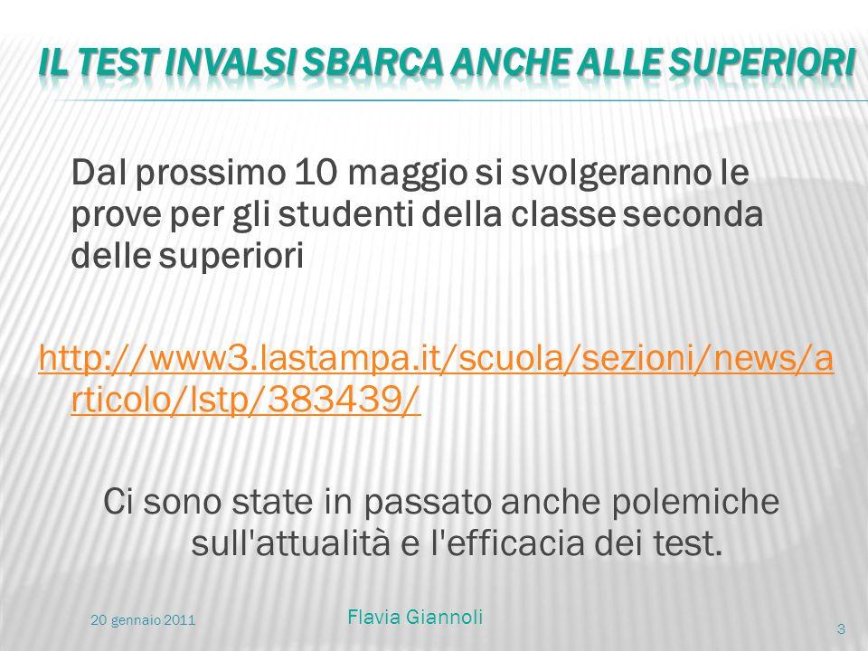 Dal prossimo 10 maggio si svolgeranno le prove per gli studenti della classe seconda delle superiori http://www3.lastampa.it/scuola/sezioni/news/a rti