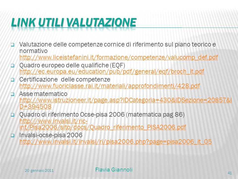 Valutazione delle competenze cornice di riferimento sul piano teorico e normativo http://www.liceistefanini.it/formazione/competenze/valucomp_def.pdf