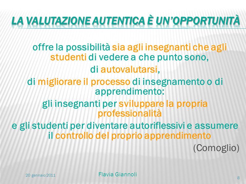 offre la possibilità sia agli insegnanti che agli studenti di vedere a che punto sono, di autovalutarsi, di migliorare il processo di insegnamento o d
