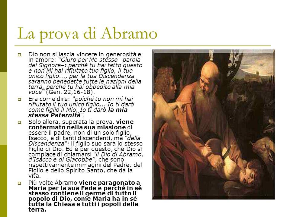 La prova di Abramo Dio non si lascia vincere in generosità e in amore: Giuro per Me stesso –parola del Signore–: perché tu hai fatto questo e non Mi h