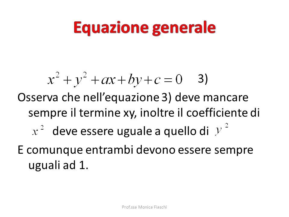 Riprendiamo la formula 2) e sviluppiamola Ordiniamo Poniamo a = -2α b = -2β c = Lequazione precedente può essere scritta in un modo più semplice da ri