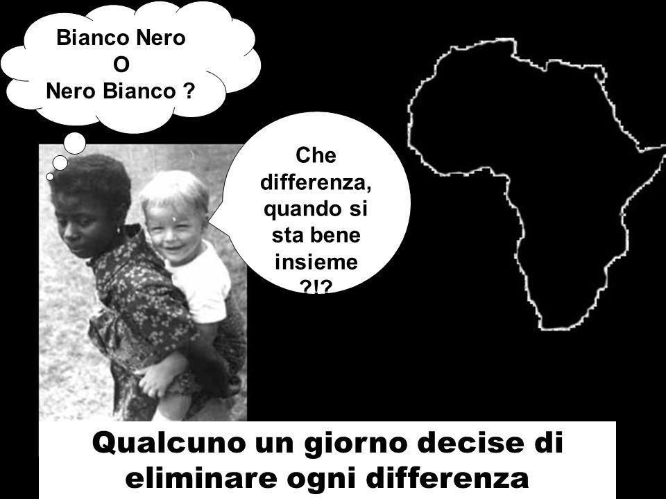 Bianco Nero O Nero Bianco . Che differenza, quando si sta bene insieme !.