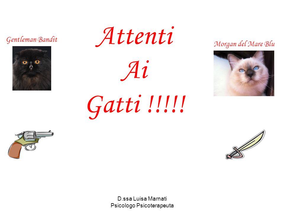 D.ssa Luisa Marnati Psicologo Psicoterapeuta Gentleman Bandit Morgan del Mare Blu Attenti Ai Gatti !!!!!