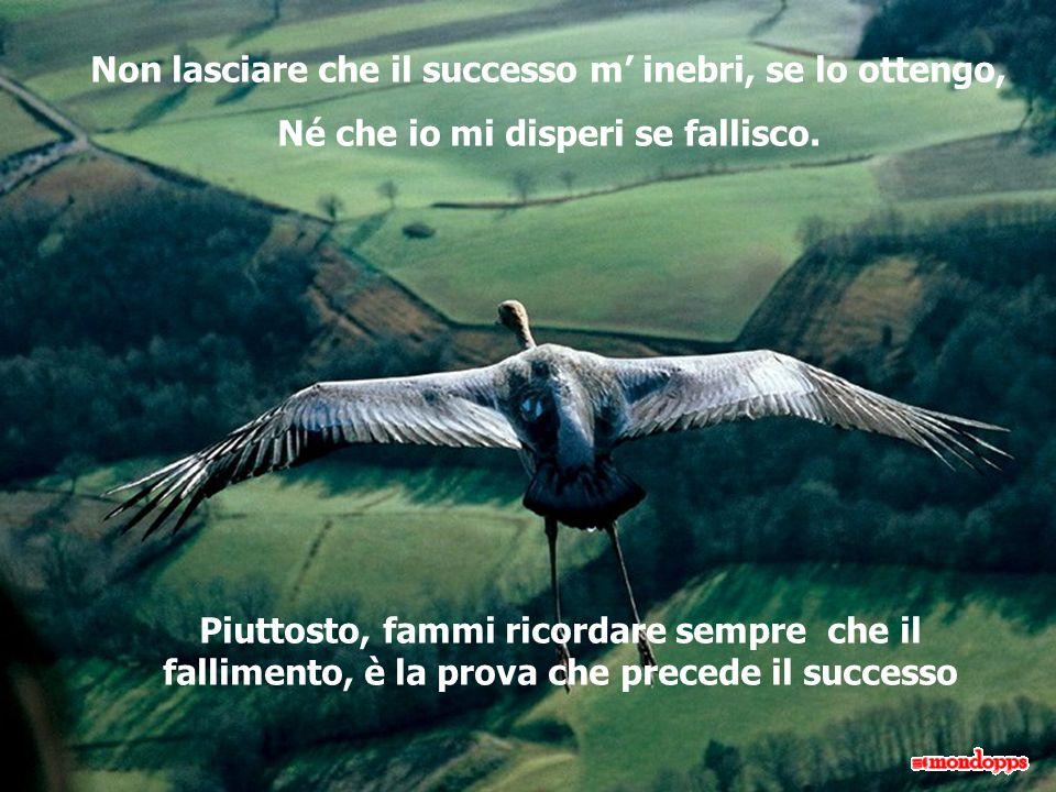 Non lasciare che il successo m inebri, se lo ottengo, Né che io mi disperi se fallisco.
