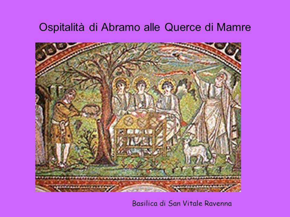 Ospitalità di Abramo alle Querce di Mamre Basilica di San Vitale Ravenna