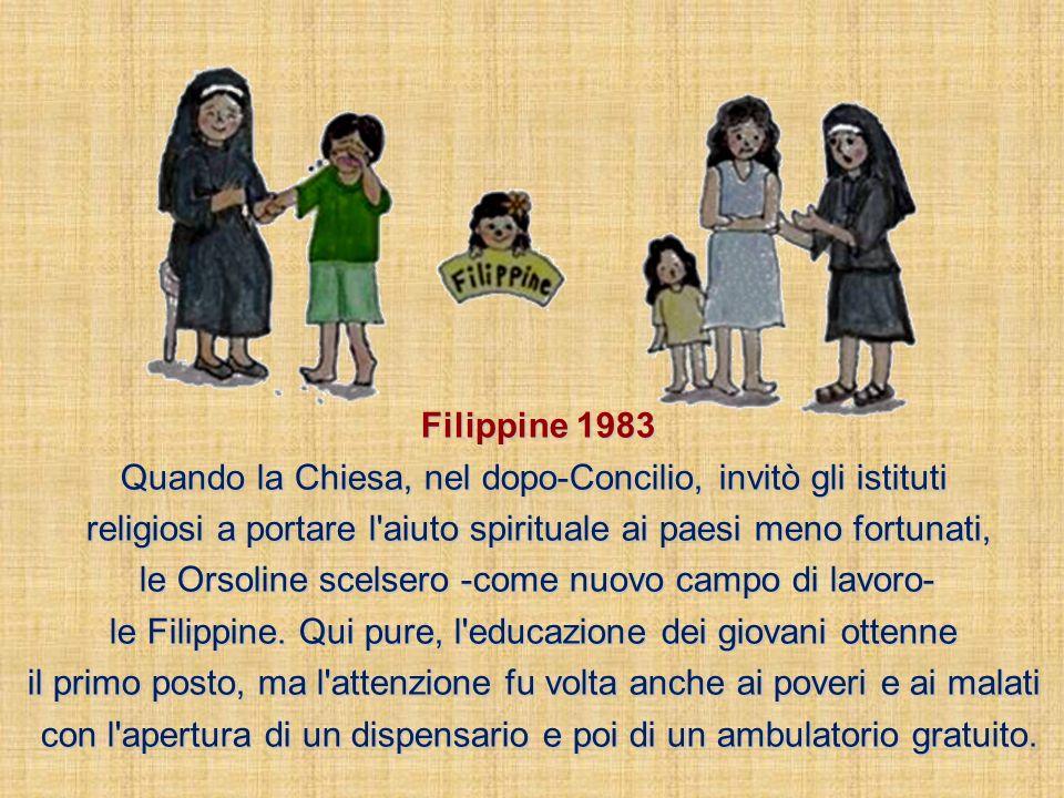 Taiwan 1958 Lo zelo missionario, dopo alcuni anni, portò un altro gruppo di Orsoline a lavorare in Taiwan, la terra in cui molti cinesi del continente si erano rifugiati.