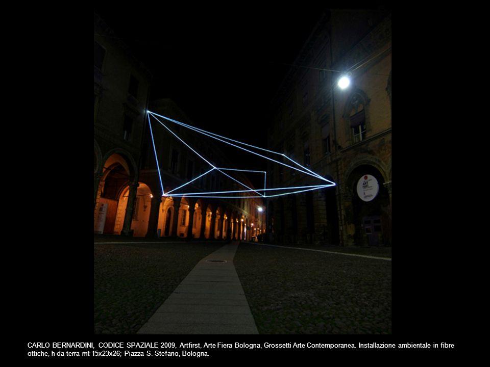 CARLO BERNARDINI, CODICE SPAZIALE 2009, Artfirst, Arte Fiera Bologna, Grossetti Arte Contemporanea. Installazione ambientale in fibre ottiche, h da te