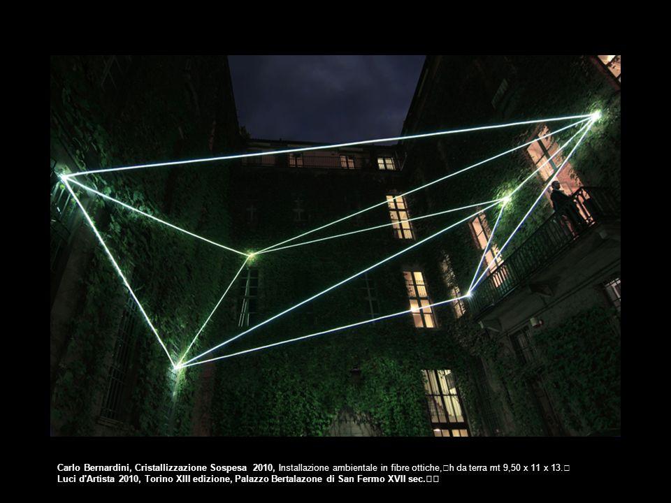 Carlo Bernardini, Cristallizzazione Sospesa 2010, Installazione ambientale in fibre ottiche, h da terra mt 9,50 x 11 x 13.