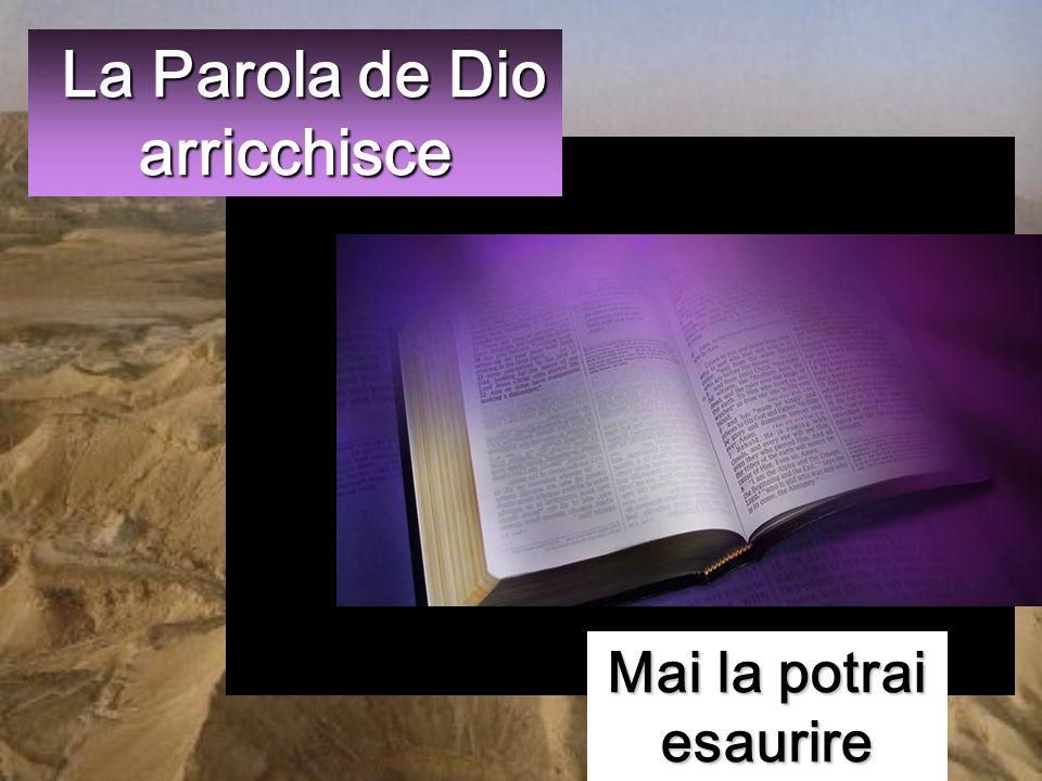 Ma egli rispose: «Sta scritto: Non di solo pane vivrà luomo, ma di ogni parola che esce dalla bocca di Dio».