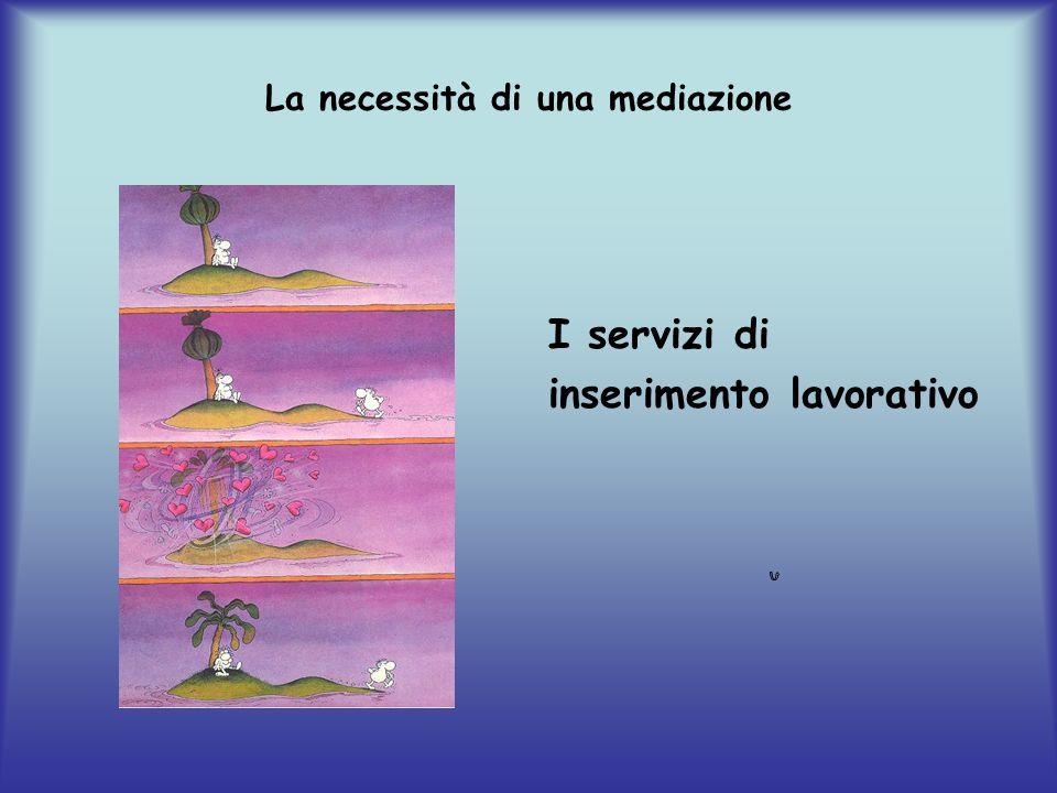 La necessità di una mediazione I servizi di inserimento lavorativo