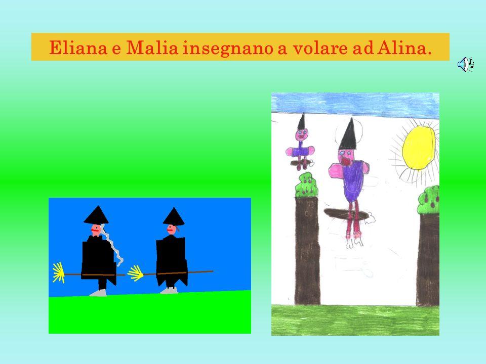 Eliana e Malia insegnano a volare ad Alina.