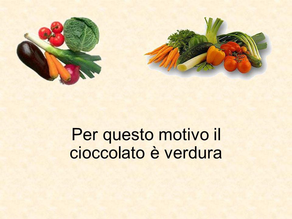 Per questo motivo il cioccolato è verdura