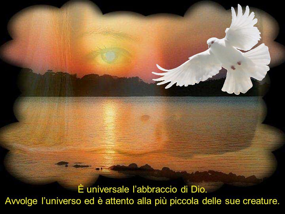 È universale labbraccio di Dio. Avvolge luniverso ed è attento alla più piccola delle sue creature.