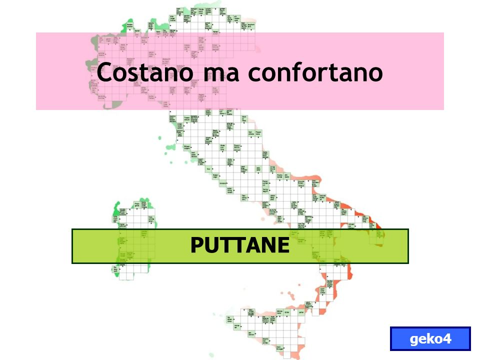Costano ma confortano PUTTANE geko4