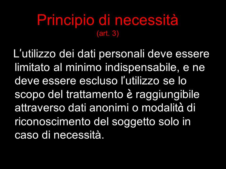 Principio di necessità (art.