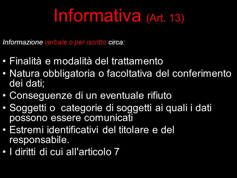 Informativa (Art.