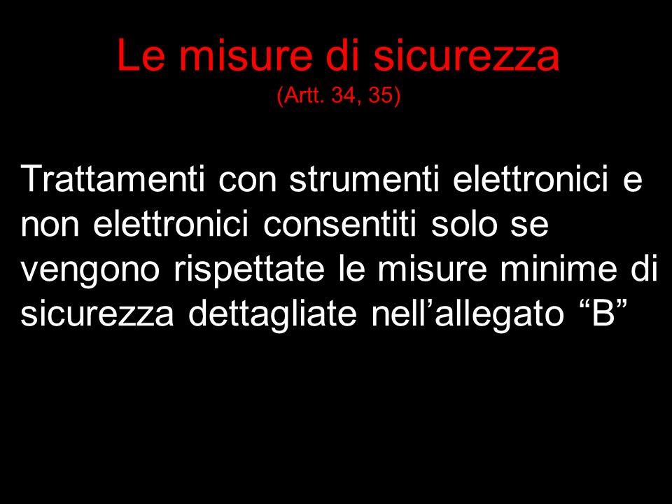 Le misure di sicurezza (Artt.