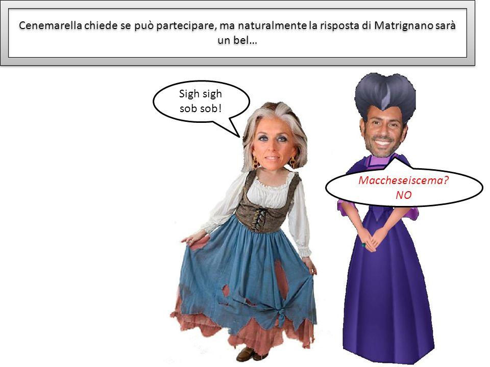 Cenemarella chiede se può partecipare, ma naturalmente la risposta di Matrignano sarà un bel… Maccheseiscema? NO Sigh sigh sob sob!