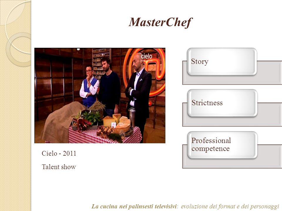 MasterChef La cucina nei palinsesti televisivi: evoluzione dei format e dei personaggi Cielo - 2011 Talent show StoryStrictness Professional competence