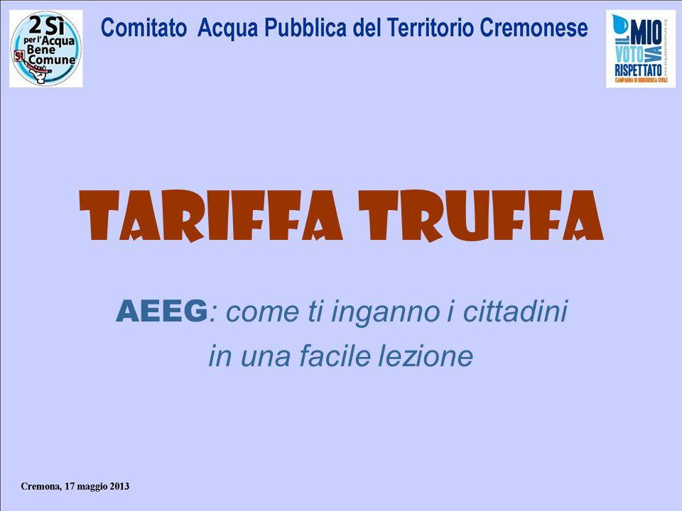 La legge Galli e il full recovery cost La tariffa deve assicurare la totale copertura dei costi collegati al servizio idrico.