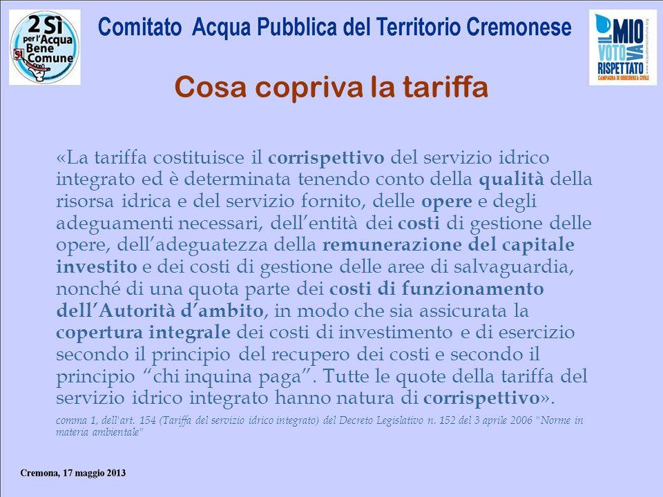 Le componenti della tariffa secondo il metodo normalizzato Il Metodo Normalizzato fissava per legge il sistema univoco attraverso il quale si definivano i costi ammissibili e la loro metodologia di calcolo.