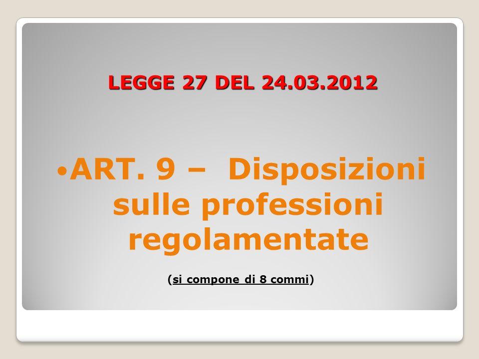 LEGGE 27 DEL 24.03.2012 ART.