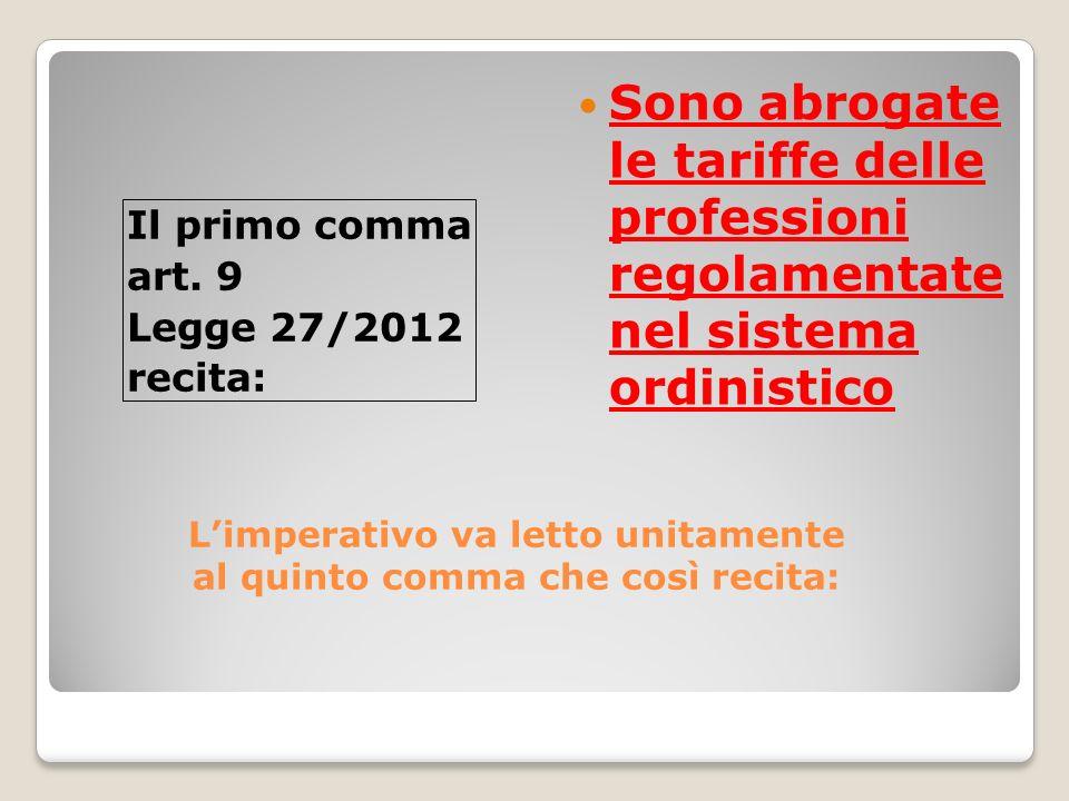 IL PREVENTIVO DI MASSIMA IL PREVENTIVO DI MASSIMA CONTENUTI Oggetto: Legge 27 del 24/03/2012 art.