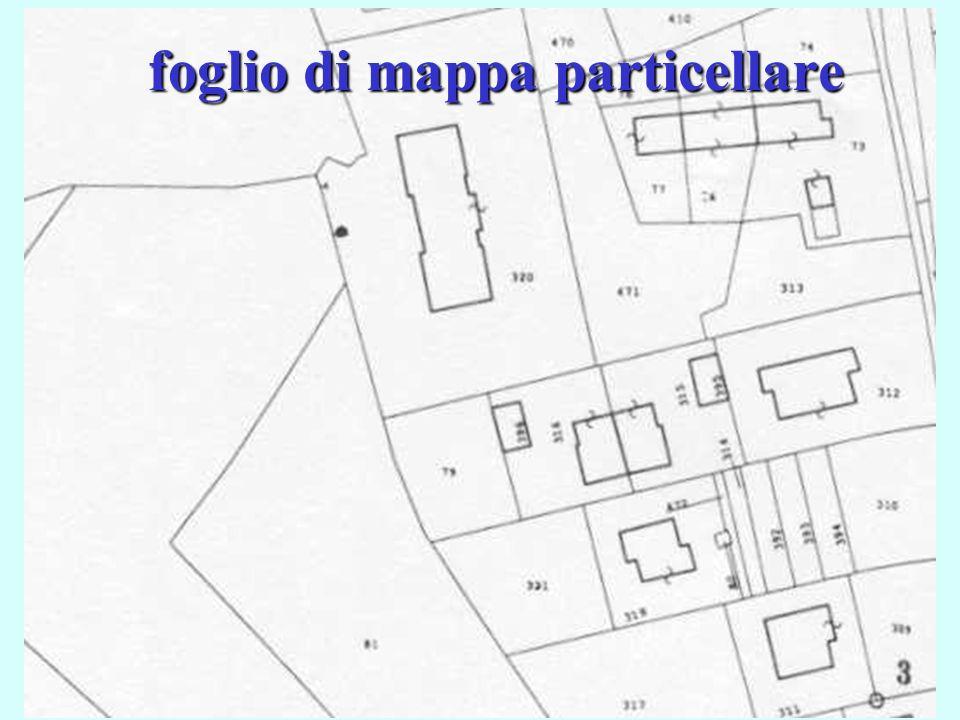 23 foglio di mappa particellare