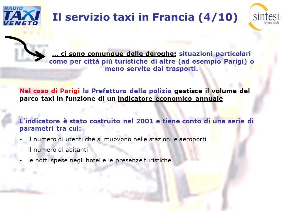 Il servizio taxi in Francia (4/10) … ci sono comunque delle deroghe: situazioni particolari come per città più turistiche di altre (ad esempio Parigi)