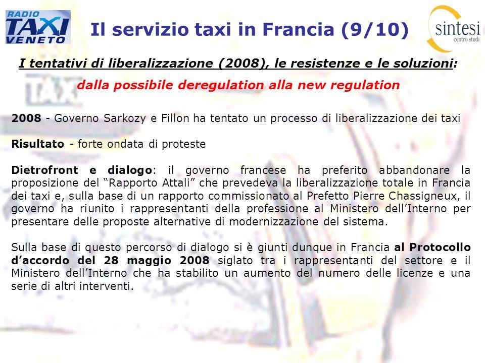 Il servizio taxi in Francia (9/10) I tentativi di liberalizzazione (2008), le resistenze e le soluzioni: dalla possibile deregulation alla new regulat
