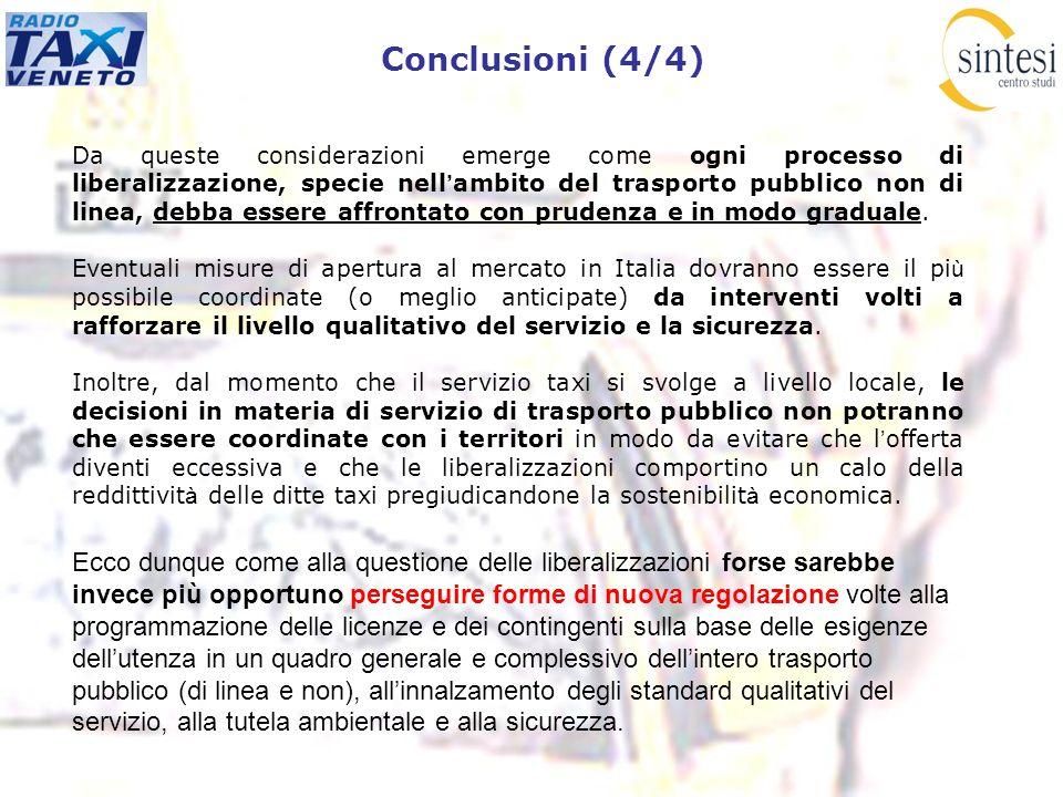 Conclusioni (4/4) Ecco dunque come alla questione delle liberalizzazioni forse sarebbe invece più opportuno perseguire forme di nuova regolazione volt