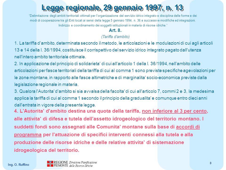 4 Direzione Pianificazione delle Risorse Idriche Ing.