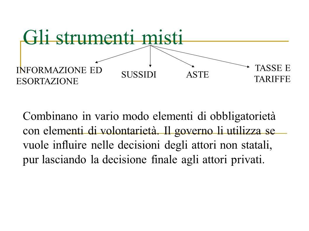 Gli strumenti misti Combinano in vario modo elementi di obbligatorietà con elementi di volontarietà.