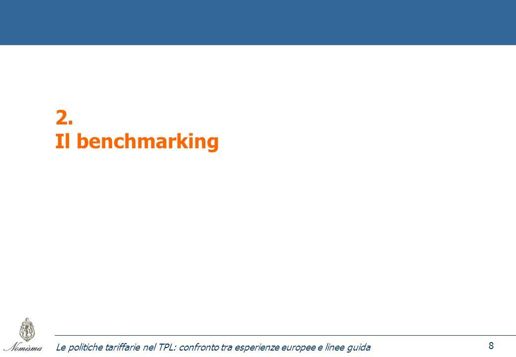 Le politiche tariffarie nel TPL: confronto tra esperienze europee e linee guida 8 2. Il benchmarking