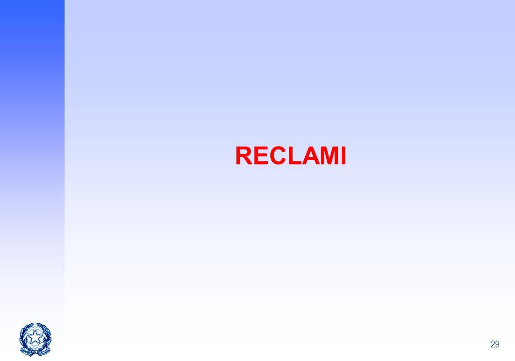 29 RECLAMI
