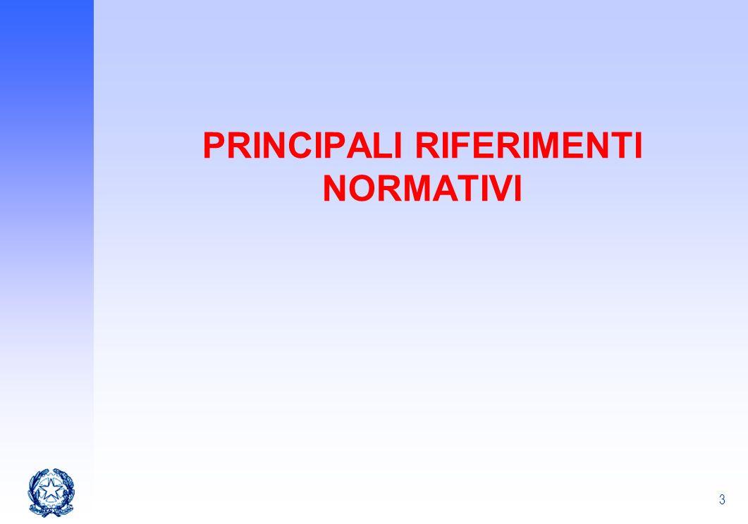 3 PRINCIPALI RIFERIMENTI NORMATIVI